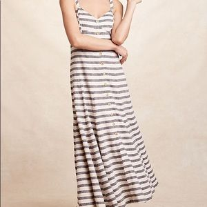 Anthropologie Maeve striped maxi dress